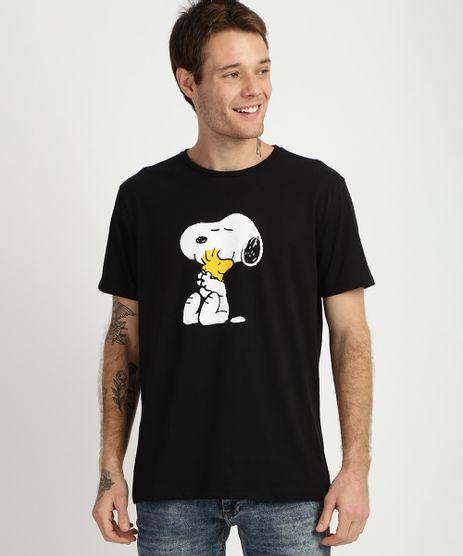 Camiseta-Masculina-Snoopy-Manga-Curta-Gola-Careca-Preta-9956611-Preto_1