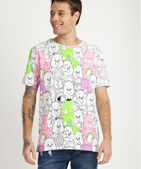 Camiseta-Masculina-Ursinhos-Carinhosos-Manga-Curta-Gola-Branca-9957591-Branco_1