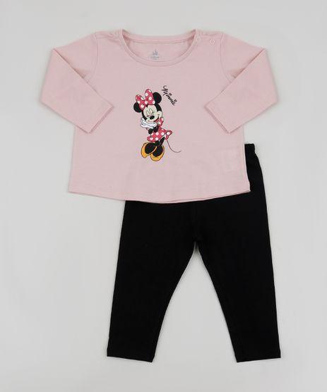 Conjunto-de-Moletom-Infantil-Blusa-Minnie-Manga-Longa-Rosa---Calca-Legging-Preta-9960637-Preto_1
