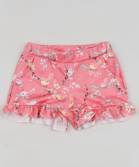 Short-Infantil-Estampado-Floral-com-Babados-Rosa-9955899-Rosa_1