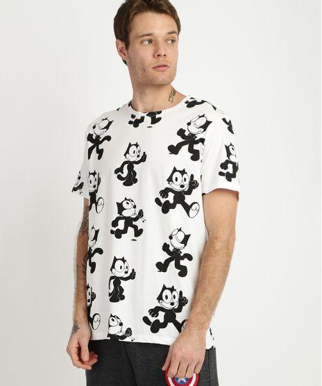 Camiseta-Masculina-Gato-Felix-Manga-Curta-Gola-Careca-Branca-9956606-Branco_1