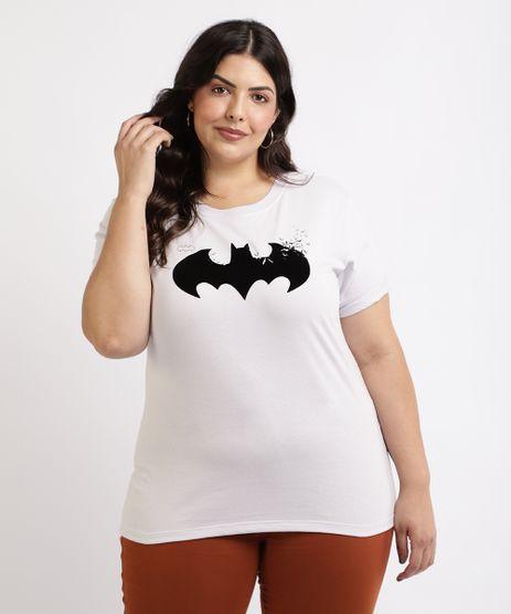 Blusa-Feminina-Plus-Size-Batman-Manga-Curta-Decote-Redondo-Branca-9960039-Branco_1