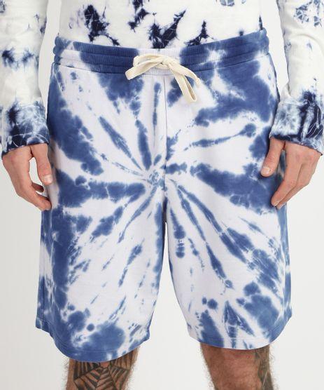 Bermuda-de-Moletom-Masculina-Relaxed-Estampada-Tie-Die-Azul-9959097-Azul_1