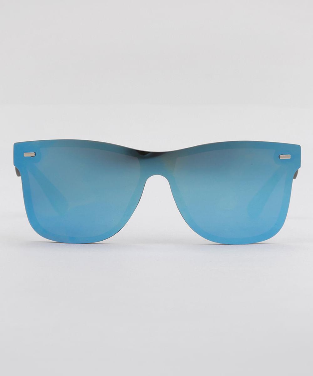 Óculos de Sol Quadrado Espelhado Feminino Oneself Preto - Único 10d3713781