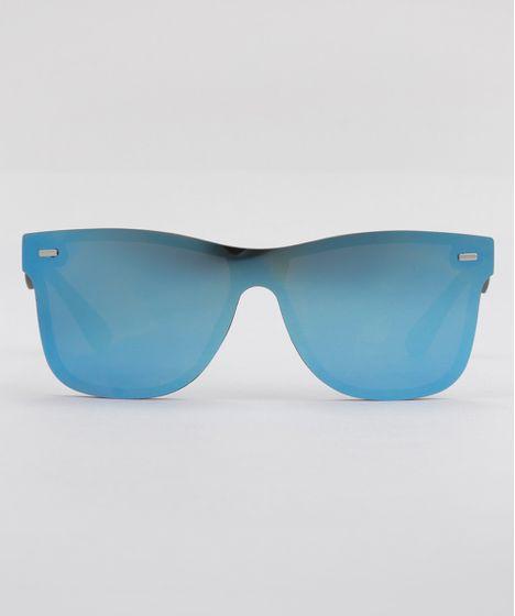 7875a9049 Óculos de Sol Quadrado Espelhado Feminino Oneself Preto - cea