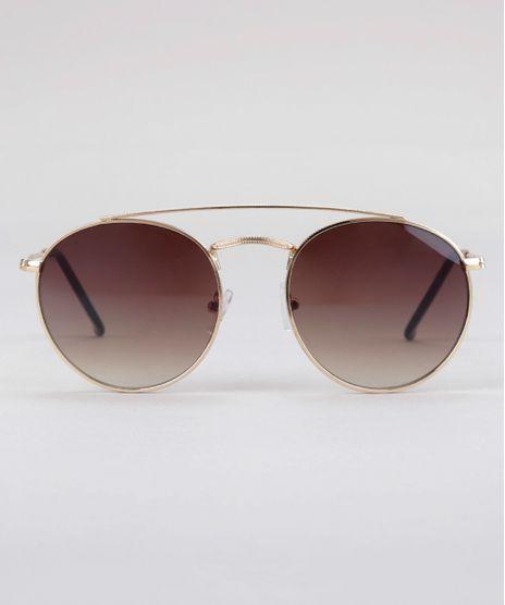 Oculos-de-Sol-Redondo-Feminino-Oneself-Dourado-8759610-Dourado_1