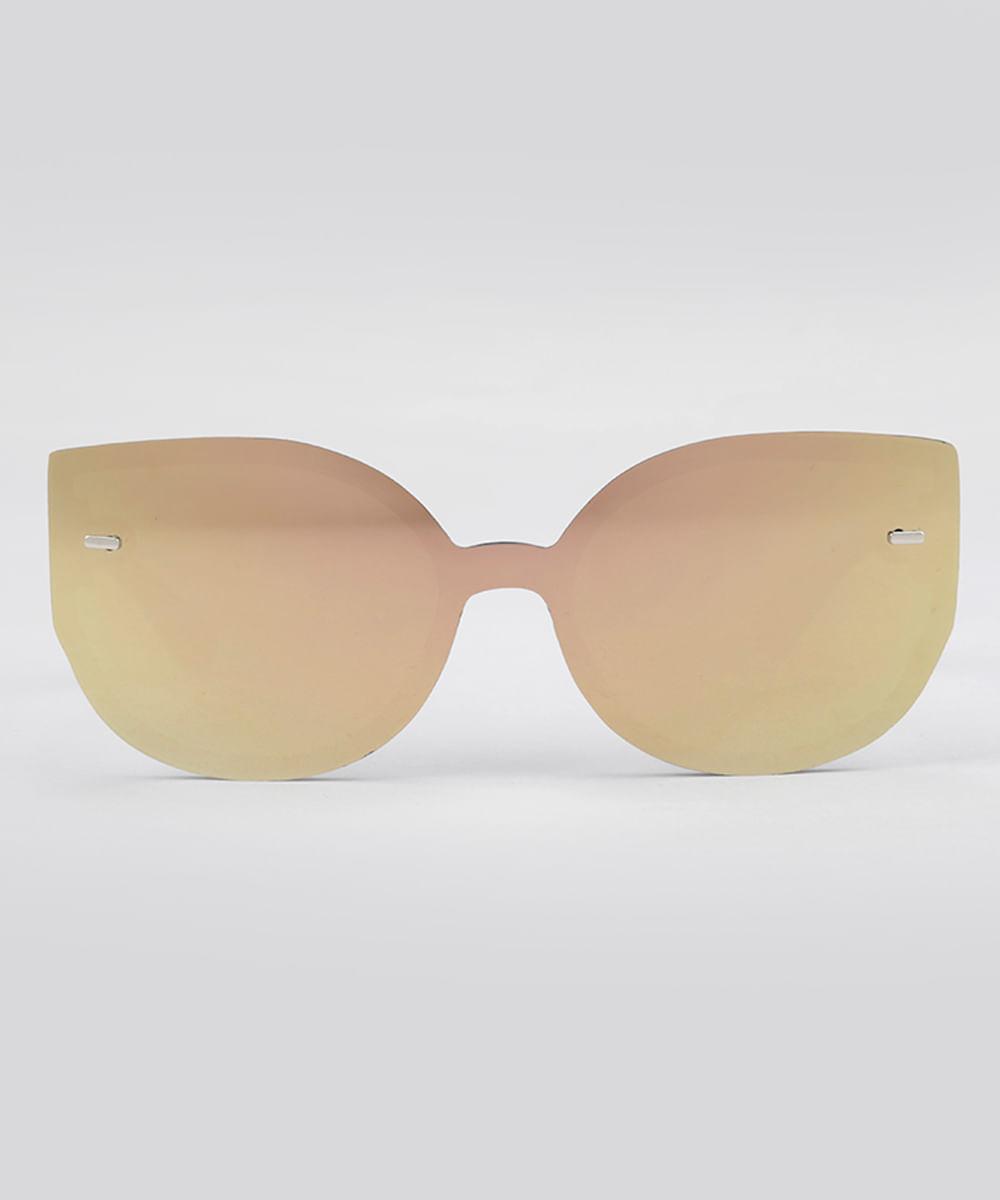 99ee6d8e7 Óculos de Sol Gatinho Espelhado Feminino Oneself Preto - cea