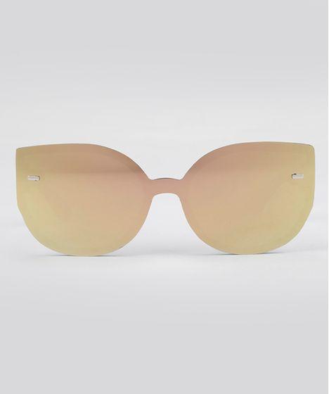 Óculos de Sol Gatinho Espelhado Feminino Oneself Preto - cea 1c6d7831ea