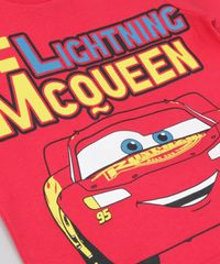 Conjunto de Camiseta Vermelha + Bermuda Carros Preta - ceacollections e71290d103354