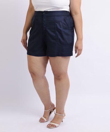 Short-Feminino-Mindset-Plus-Size-Cintura-Alta-com-Bolsos-Azul-Marinho-9959949-Azul_Marinho_1
