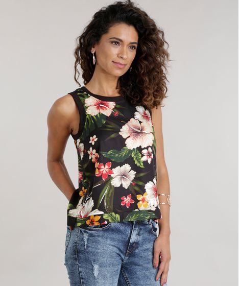 72874869d1 Regata-Estampada-Floral-Preta-8592444-Preto 1 ...