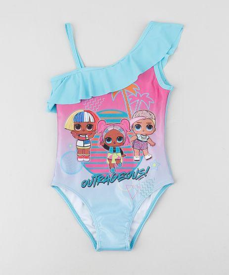 Maio-Infantil-LOL-Surprise-Um-Ombro-So-com-Babado-Protecao-UV50--Azul-Claro-9942595-Azul_Claro_1