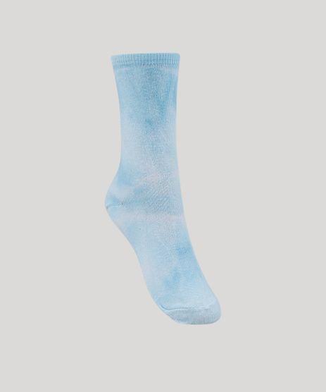 Meia-Feminina-Estampada-Tie-Dye-Cano-Alto-Azul-9963643-Azul_1