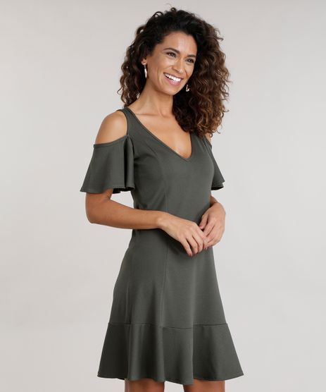 Vestido-Open-Shoulder-com-Recortes-Verde-Militar-8715806-Verde_Militar_1