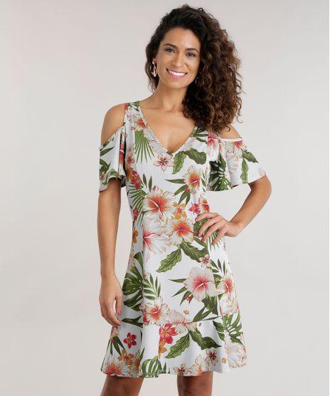ef6c76360 Vestido-Open-Shoulder-Estampada-Floral-com-Recortes-Off-
