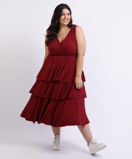 Vestido-Feminino-Mindset-Plus-Size-Midi-Canelado-Alcas-Largas-com-Babados-Vinho-9955915-Vinho_1