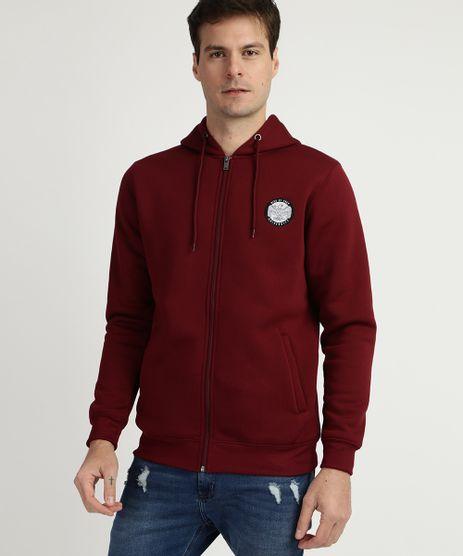 Blusao-de-Moletom-Masculino-com-Capuz-e-Ziper-Vermelho-9781709-Vermelho_1