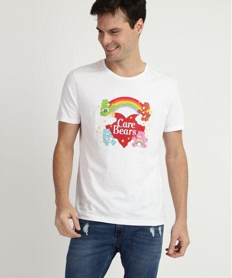 Camiseta-Masculina--Care-Bears--Ursinhos-Carinhosos-Manga-Curta-Gola-Careca-Branca-9957594-Branco_1