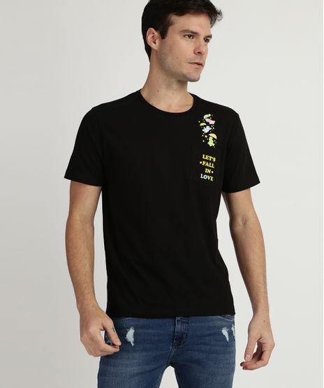 Camiseta-Masculina-Ursinhos-Carinhosos-com-Bolso-Manga-Curta-Gola-Careca-Preta-9957597-Preto_1