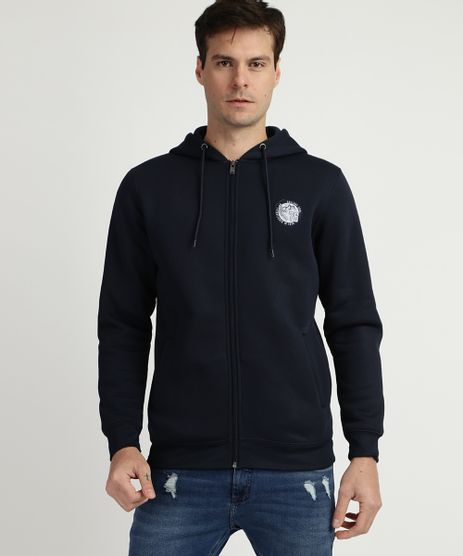 Blusao-de-Moletom-Masculino-com-Capuz-e-Ziper-Azul-Escuro-9781709-Azul_Escuro_1
