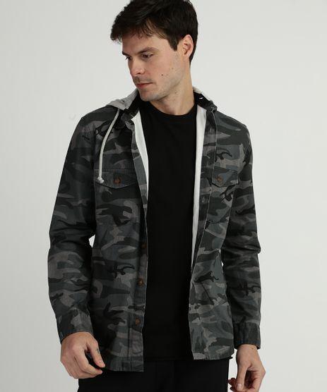 Camisa-Masculina-Estampada-Camuflado-com-Capuz-Manga-Longa-Verde-Militar-9838773-Verde_Militar_1