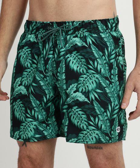 Bermuda-Masculina-Estampada-Folhagens-com-Cadarco-e-Bolsos-Verde-9513693-Verde_1