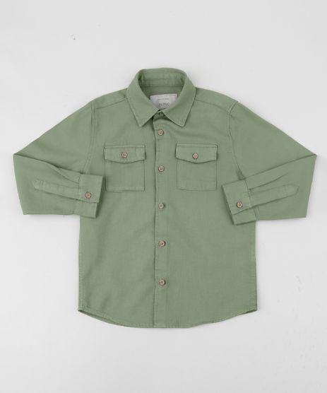 Camisa-de-Sarja-Infantil-Estampada-Com-Bolsos-Verde-Claro-9808456-Verde_Claro_1