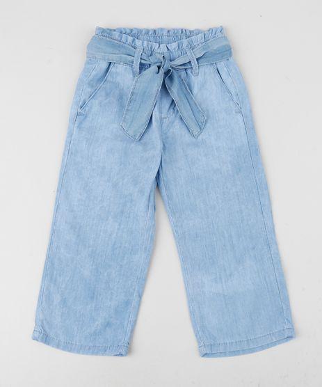 Calca-Jeans-Feminina-Clochard-com-Faixa-para-Amarrar-e-Bolsos-Azul-Medio-9958721-Azul_Medio_1