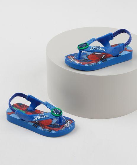 Chinelo-Infantil-Ipanema-Homem-Aranha-com-Elastico--Azul-9954740-Azul_1