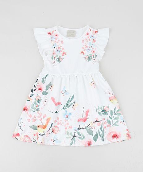Vestido-Infantil-Estampado-Floral-Manga-Curta-com-Babado-Off-White-9957559-Off_White_1