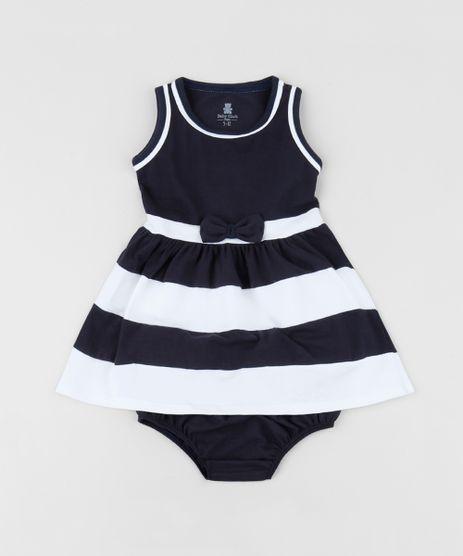 Vestido-Infantil-com-Laco-e-Listras-sem-Manga-Decote-Redondo---Calcinha--Azul-Marinho-9958884-Azul_Marinho_1
