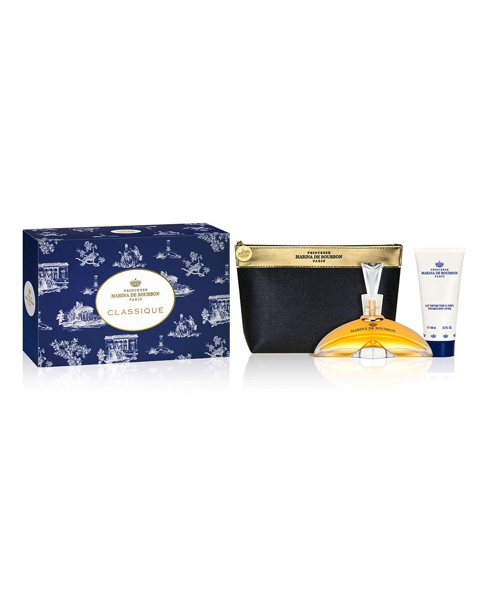 Kit Marina de Bourbon Classique Eau de Parfum 100ml + Body Lotion + Necessarie Feminino ÚNICO