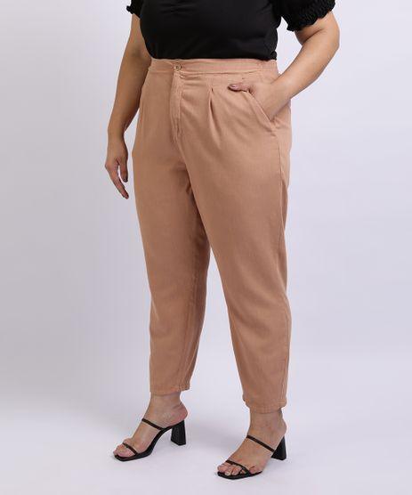 Calca-Jeans-Feminina-Mindset-Plus-Size-cm-Pregas-Cintura-Alta-com-Bolsos-Bege-9962174-Bege_1