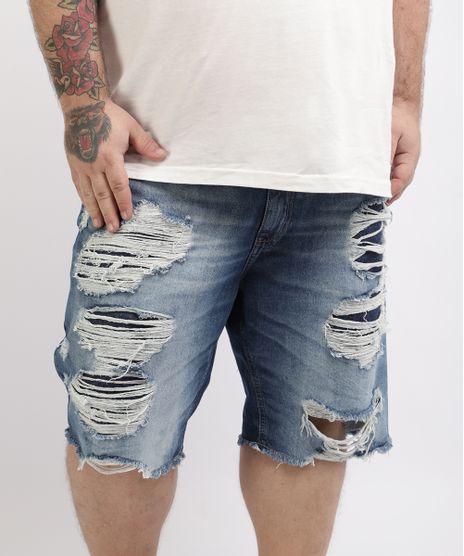 Bermuda-Jeans-Masculina-Plus-Size-Reta-Destroyed-Azul-Medio-9960751-Azul_Medio_1