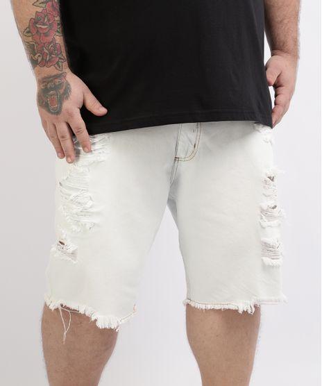 Bermuda-Jeans-Masculina-Plus-Size-Reta-Destroyed-Branca-9961879-Branco_1