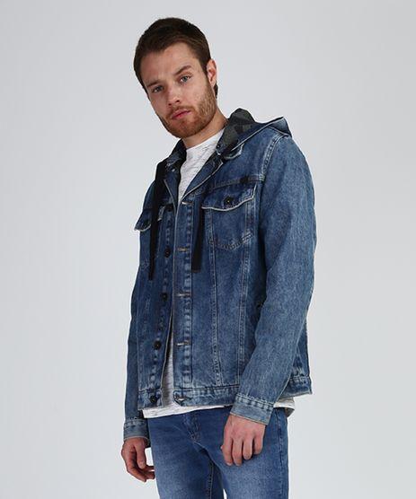 Jaqueta-Jeans-Masculina-Trucker-com-Bolsos-e-Capuz-Removivel-Azul-Medio-9887625-Azul_Medio_1