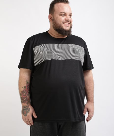 Camiseta-Masculina-Plus-Size-Esportiva-Ace-com-Listras-Manga-Curta-Gola-Careca-Preta-9959879-Preto_1