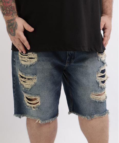 Bermuda-Jeans-Masculina-Plus-Size-Destroyed-Azul-9961880-Azul_1