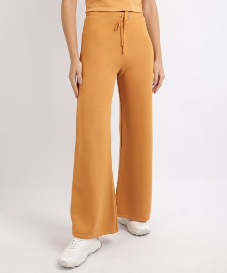 Calca-de-Moletom-Feminina-Pantalona-Cintura-Alta-Laranja-9953387-Laranja_1