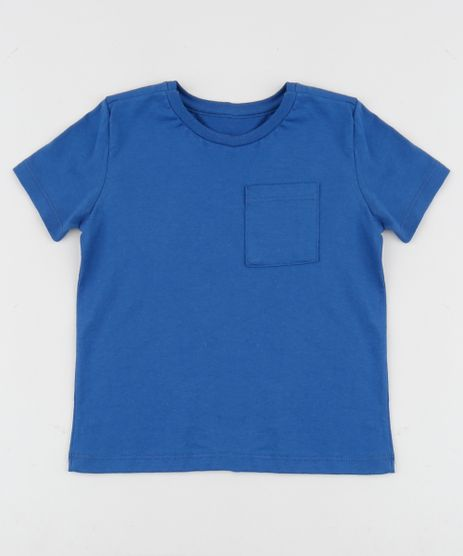 Camiseta-Infantil-Basica-com-Bolso-Manga-Curta-Azul-Royal-8574313-Azul_Royal_1