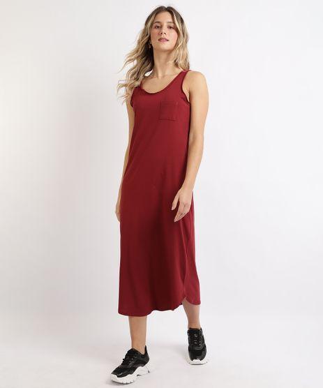 Vestido-Feminino-Basico-Longo-com-Bolso-Alcas-Media-Vinho-9949294-Vinho_1