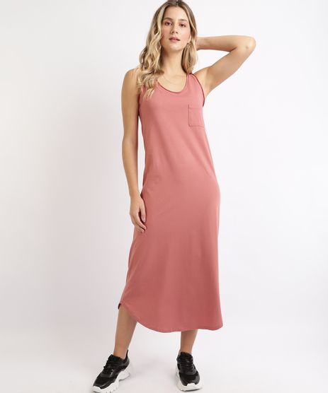 Vestido-Feminino-Basico-Longo-com-Bolso-Alcas-Media-Rosa-9949294-Rosa_1