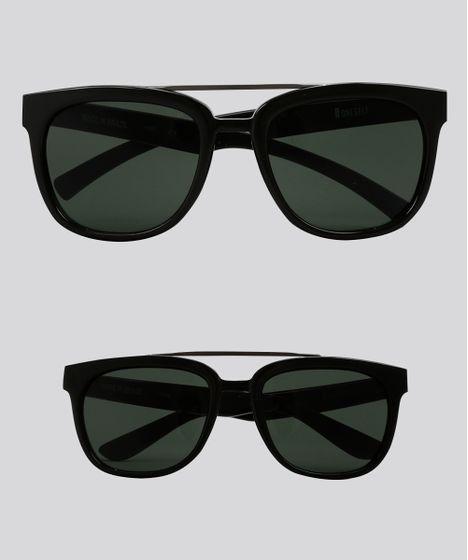 b2294f066 Kit de Óculos de Sol Quadrado Tal Pai Tal Filho Oneself Preto - cea