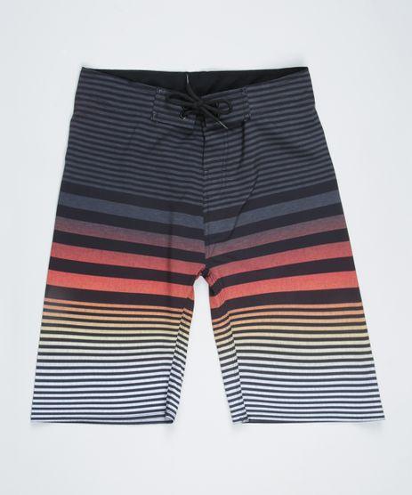 Bermuda-Surf-Juvenil-Listrada-e-Bolsos-Preta-9954491-Preto_1