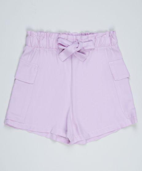 Short-Juvenil-Clochard-com-Faixa-para-Amarrar-Lilas-9963562-Lilas_1