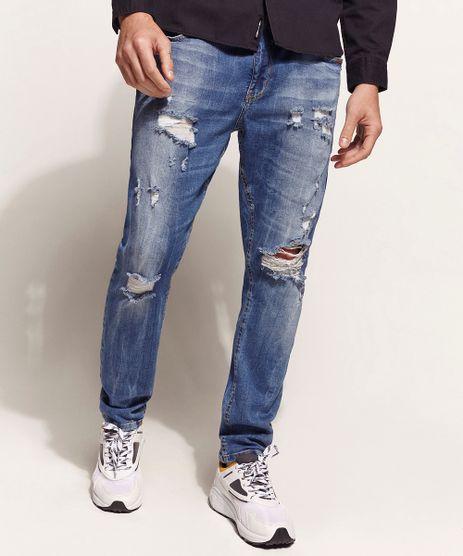 Calca-Jeans-Masculina-Carrot-Destroyed-Azul-Medio-9947753-Azul_Medio_1
