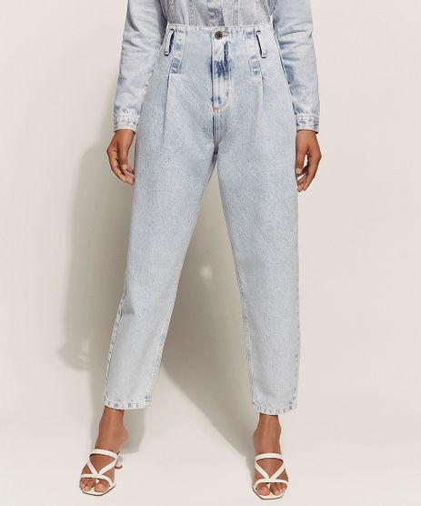 Calca-Jeans-Feminina-Baggy-Cintura-Super-Alta-Marmorizada-Azul-Claro-9960697-Azul_Claro_1