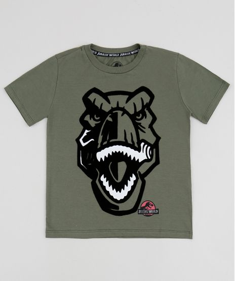 Camiseta-Infantil-Jurassic-Park-Manga-Curta-Verde-9954193-Verde_1