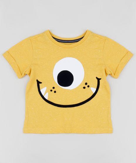 Camiseta-Infantil-Monstrinho-Moods-Manga-Curta-Amarela-9956334-Amarelo_1