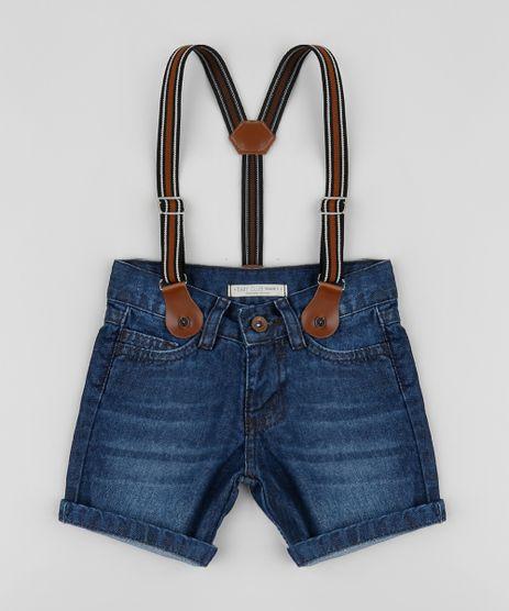 Bermuda-Jeans-Infantil-com-Suspensorio-Azul-9954042-Azul_1